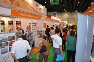 Asian Perlite Industries Sdn.Bhd. at the Hortifair Bangkok 2013 together with the companies of Greefa grading machines and Van Amerongen CA storage