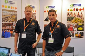 Frank Hermans and Luuk Runia at Hortiasia show in Bangkok